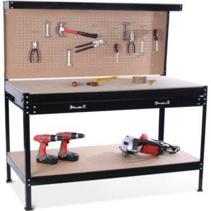 Établi d'atelier et outils