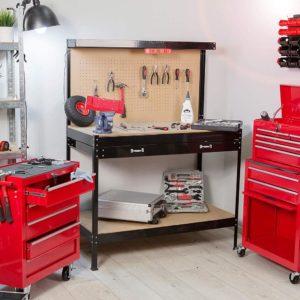 Établi d'atelier noir