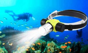 lampe frontale aquatique