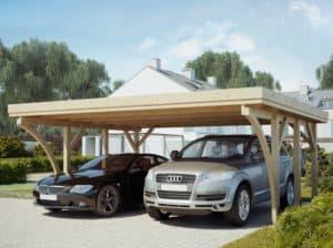 abri de voiture pour 2 voitures