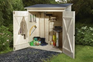 armoire de jardin petit en bois