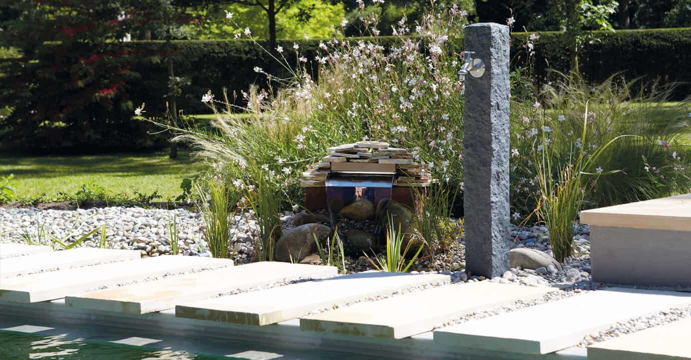 fontaine de jardin simple