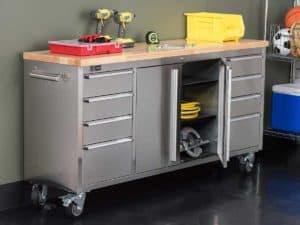 servante d'atelier grand avec roulettes