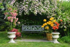 banc pour le jardin