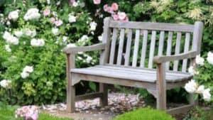 banc de jardin ancien