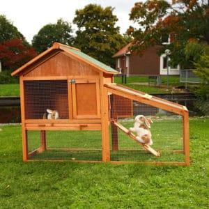 cage de lapin en bois grande